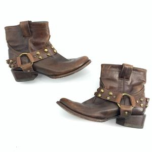 Corral Vintage Harness Rugged Distress Booties 7.5